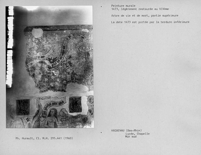 Mur sud de la chapelle : Arbre de vie et de mort, partie supérieure