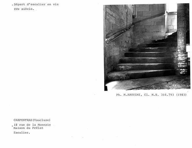 Départ de l'escalier en vis