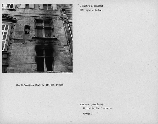 Fenêtre à meneaux de la façade