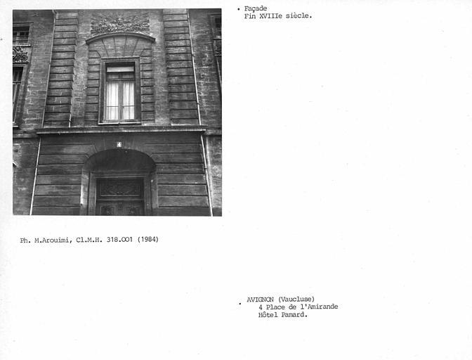 Vue axiale de la façade