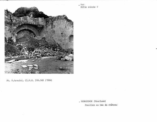 Vestiges du château, arc