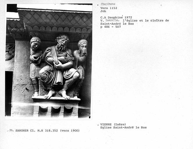 Chapiteau : sculpture de Job