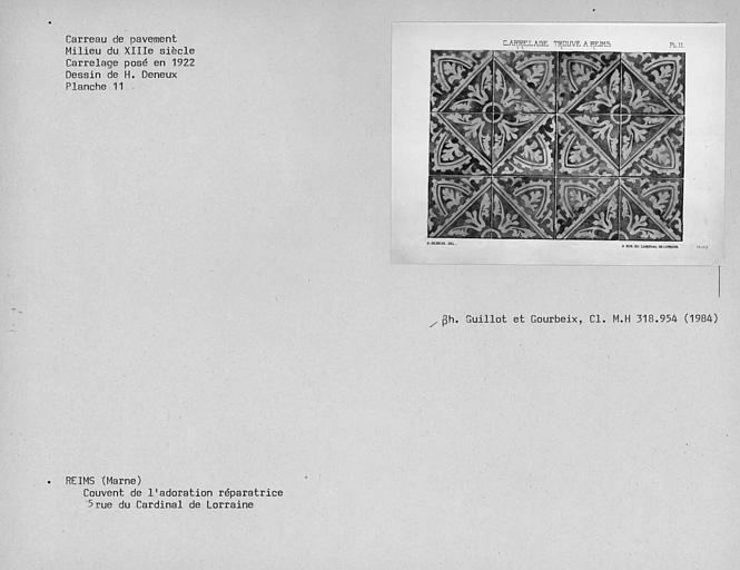 Dessin de carrelage déposé en 1922