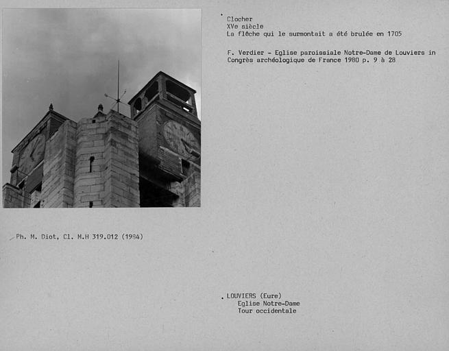 Clocher de la tour occidentale
