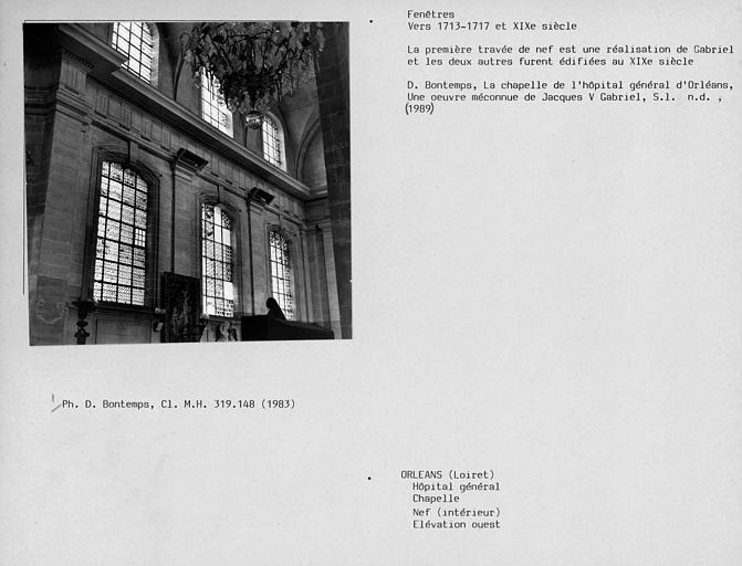 Fenêtres ouest de la chapelle, mur droit de la nef