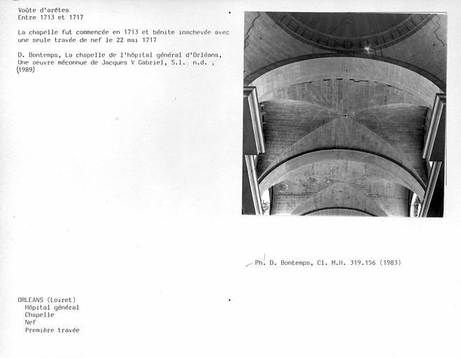 Chapelle, voûtes d'arêtes de la nef