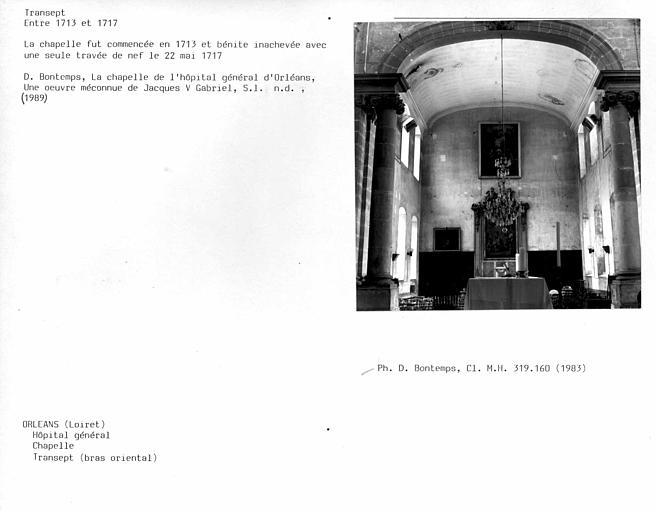 Charpente lambrissée du bras droit du transept