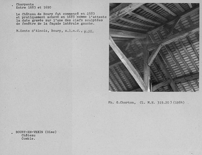 Charpente du comble, corps de bâtiment principal