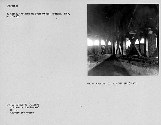 Donjon, galerie des hourds au troisième niveau