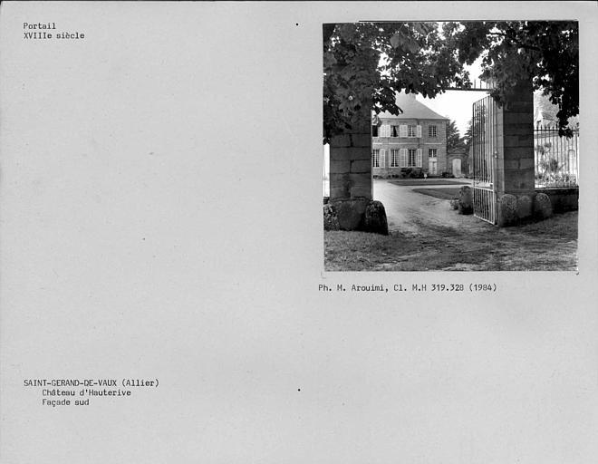 Côté sud du portail