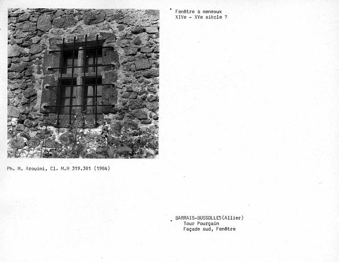 Fenêtre à meneaux de la façade sud