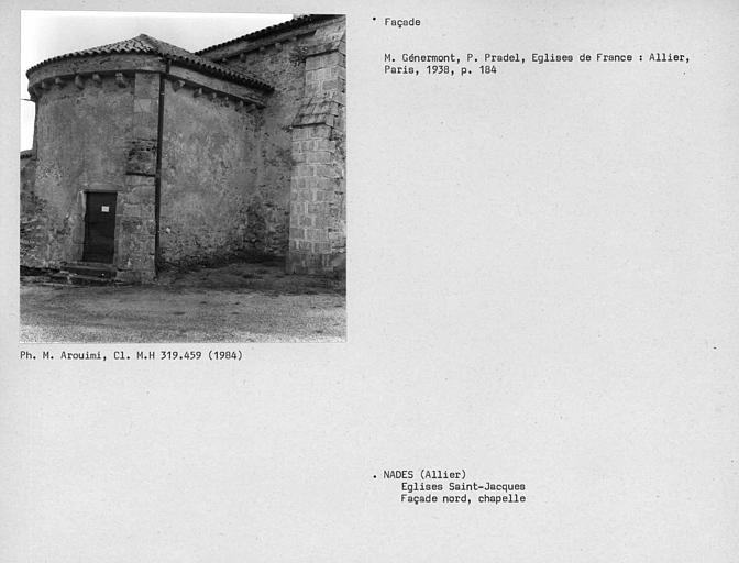 Corbeaux de la façade nord de la chapelle