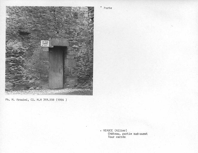 Porte de la tour carrée