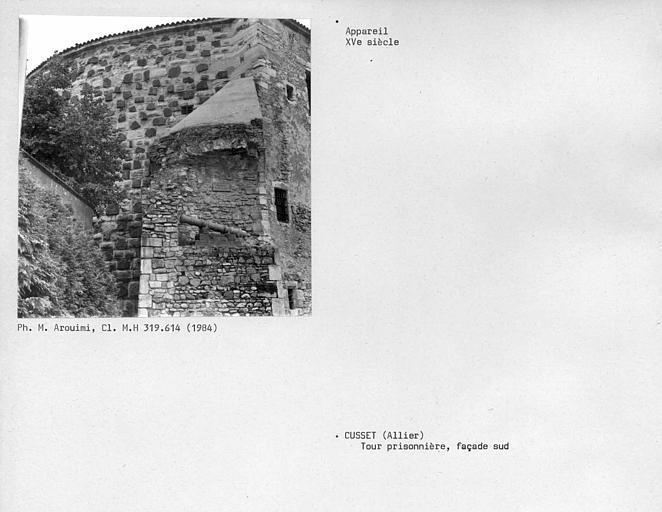 Tour Prisonnière. Appareil de la façade sud de la tour