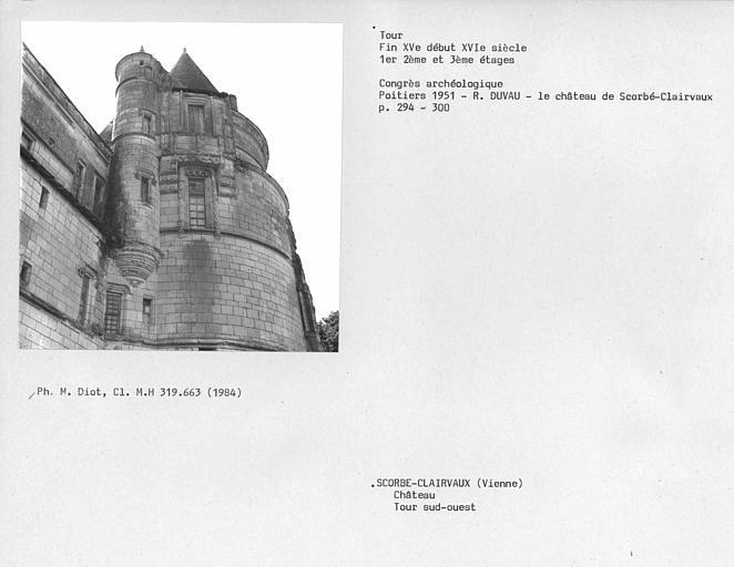 Tour de l'aile du 15e siècleme, premier, deuxième et troisième étages