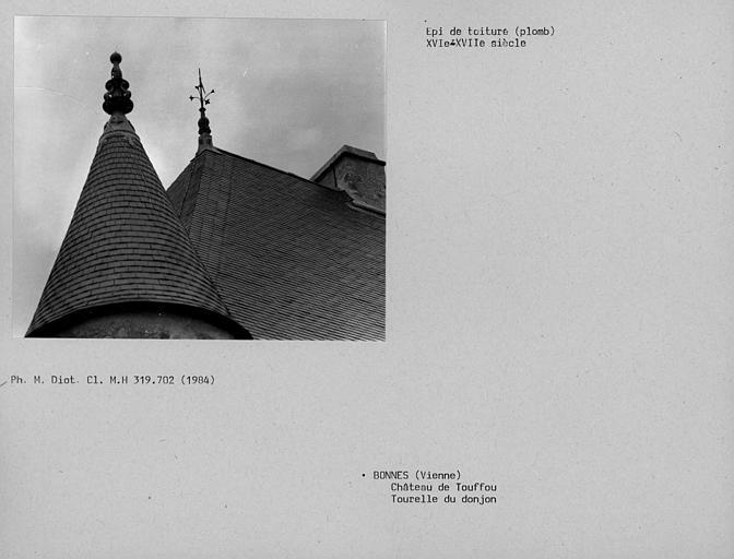 Epi de toiture en plomb de la tourelle du donjon