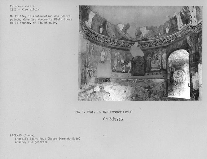 Vue générale de l'abside