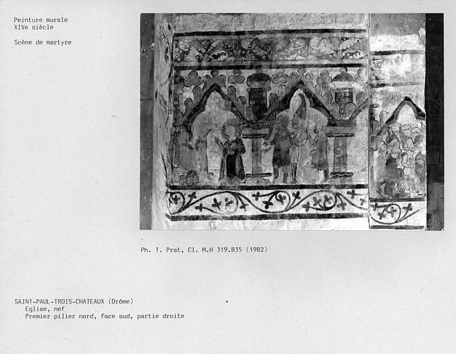 Partie droite de la face sud du premier pilier nord de la nef : scène de martyre