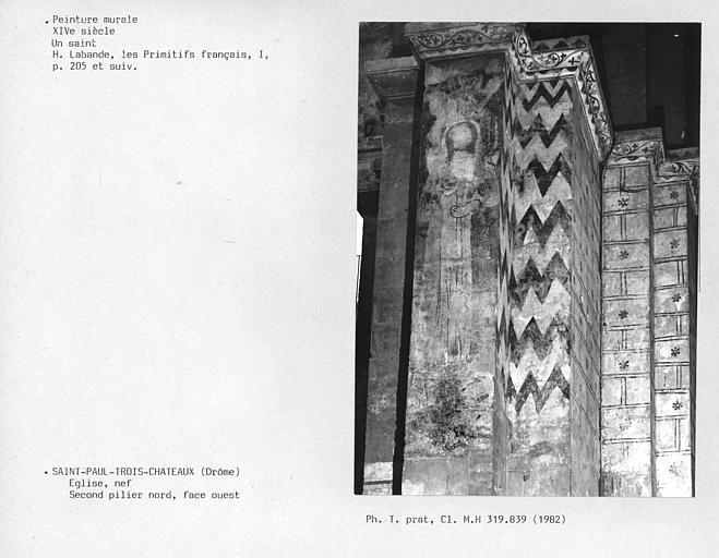 Face ouest du deuxième pilier nord de la nef : un saint
