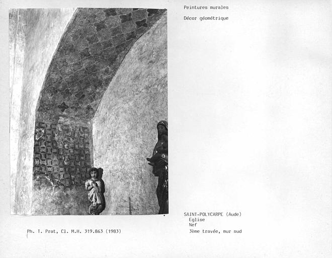 Mur sud de la troisième travée, décor géométrique