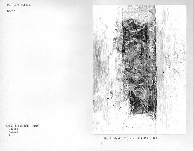 Décor de l'arc de l'abside