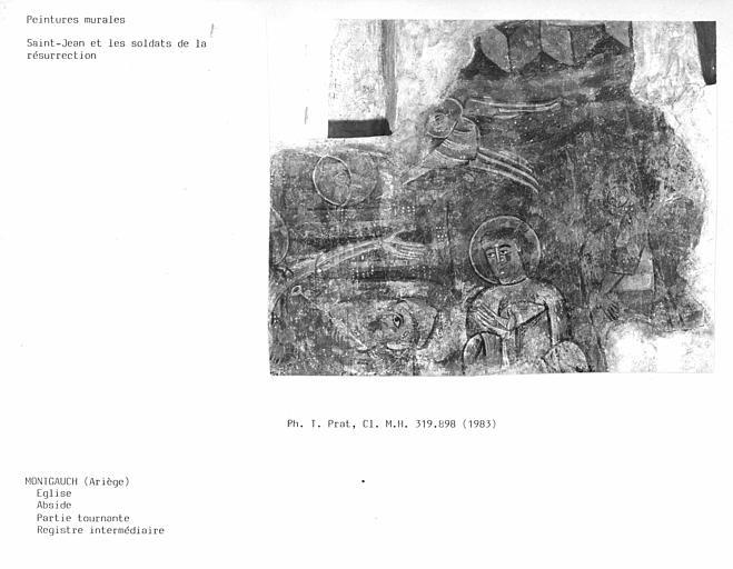 Registre intermédiaire de la partie tournante de l'abside : Saint-Jean