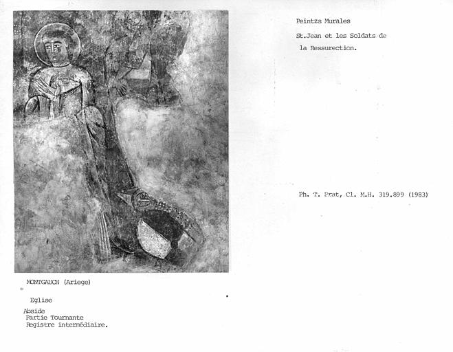 Registre intermédiaire de la partie tournante de l'abside : Saint-Jean et les soldats de la Résurrection