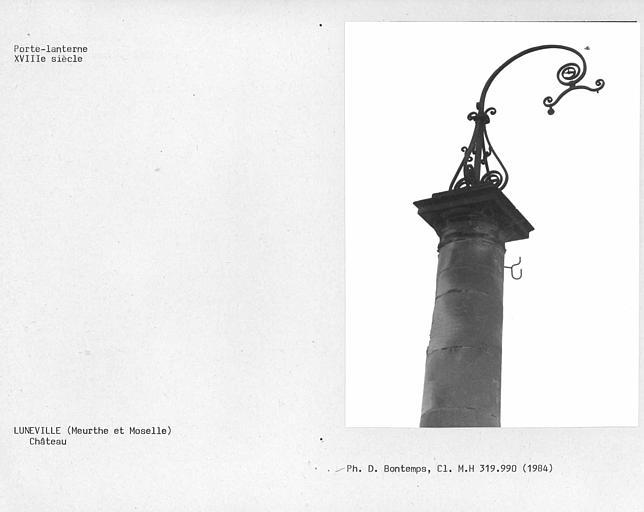 Colonne porte lanterne