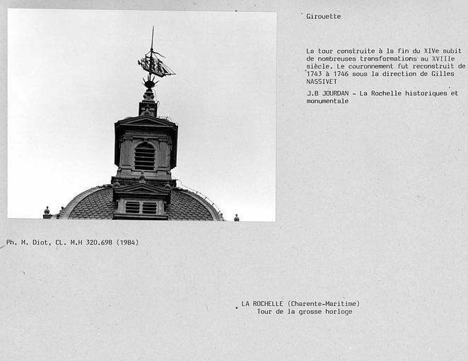 Girouette en forme de bateau de la Tour de la grosse horloge