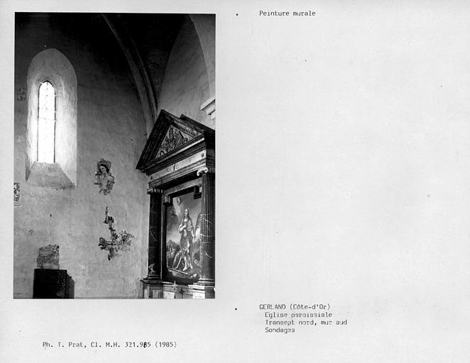 Mur nord du transept nord, sondage