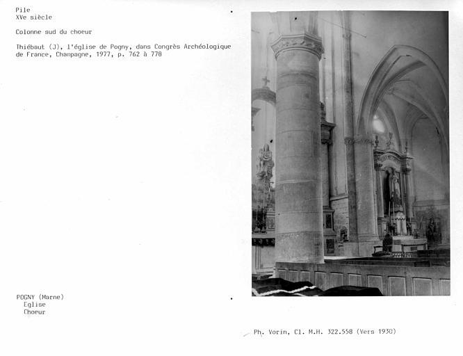 Intérieur, chapelle latérale, pile sud du choeur