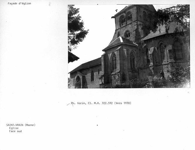 Façade sud de l'église