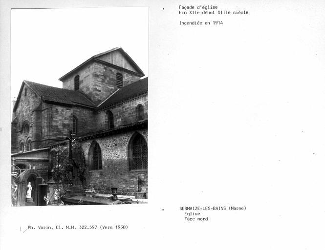 Façade et transept nord de l'église