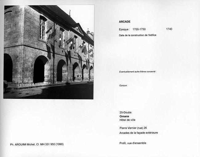 Arcades de la façade extérieure
