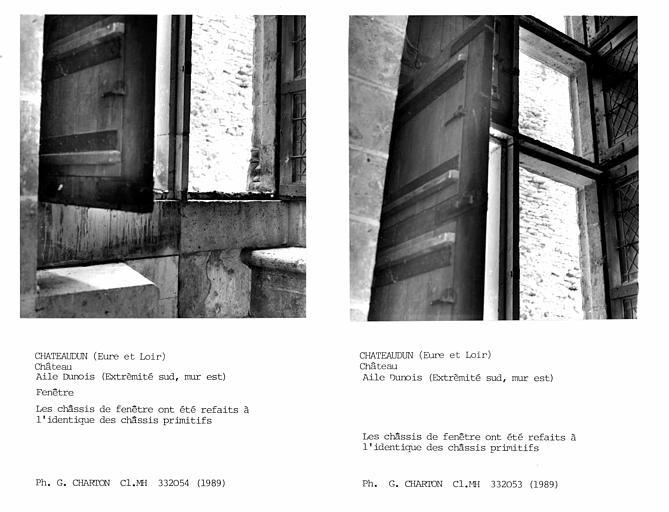 Fenêtre de l'aile Dunois, extrémité sud, mur est