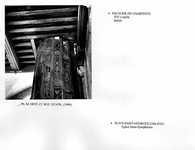 Trémie de l'escalier de charpente