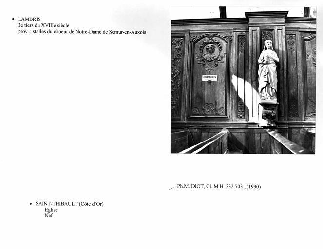 Statue : Sainte Barbe (détruite ?)