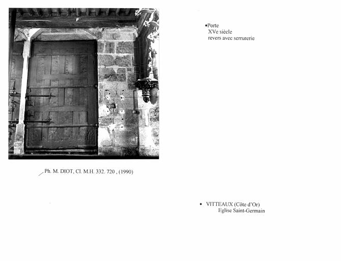 Porte du portail ouest. Revers du vantail gauche