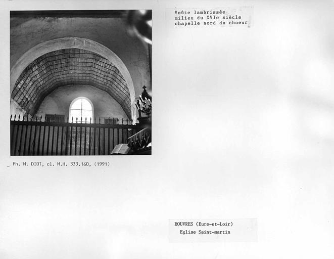 Charpente lambrissée de la chapelle nord du choeur