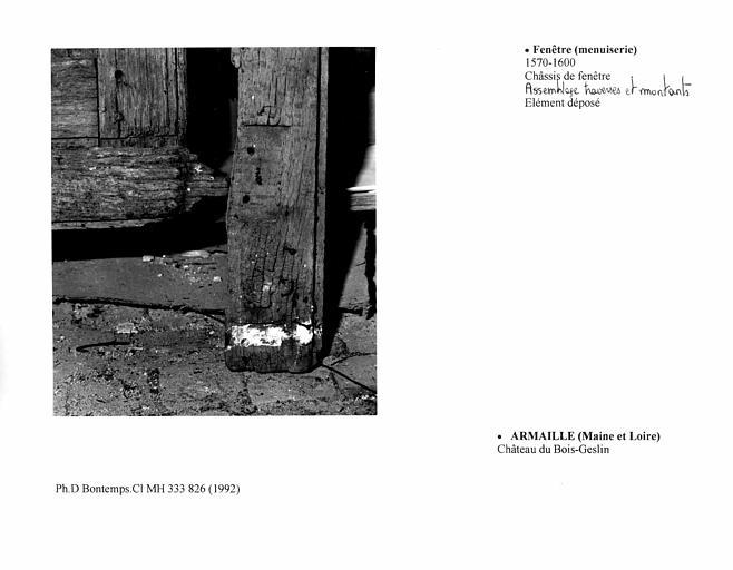 Châssis de fenêtre et volet, A. Assemblage des traverses et montants