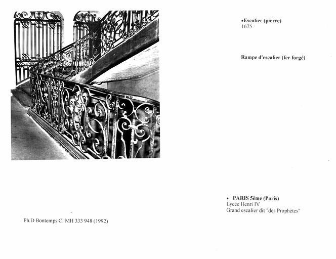 Grand escalier dit des 'Prophètes'. Détail