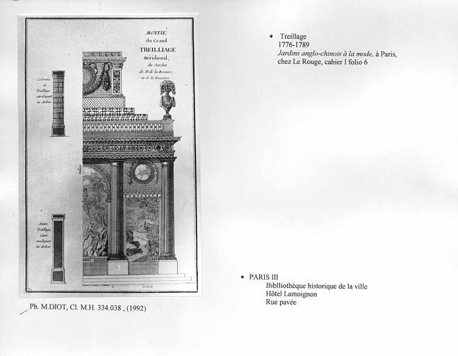 Dessin de treillage. Cahier I, folio 6