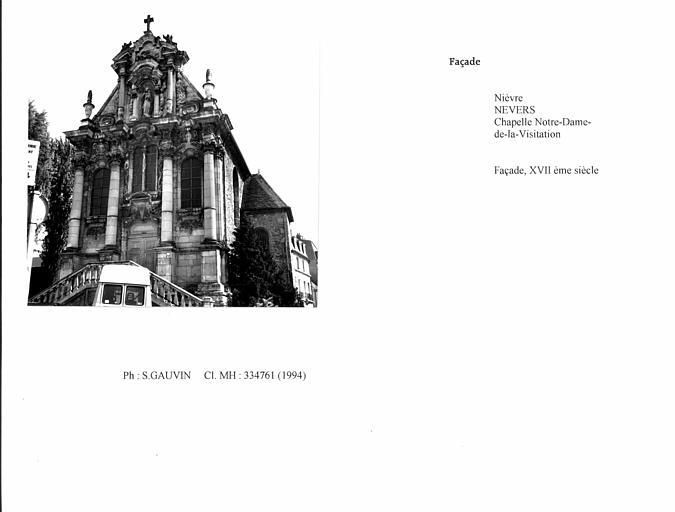 Chapelle Notre-Dame-de-la-Visitation. Façade. Vue d'ensemble