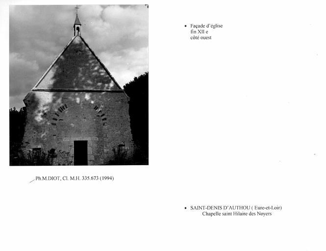 Face ouest de la chapelle