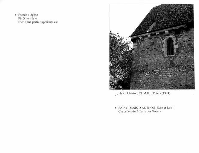Ancienne église paroissiale de Saint-Hilaire des Noyers, actuelle chapelle Saint-Hilaire des Noyers