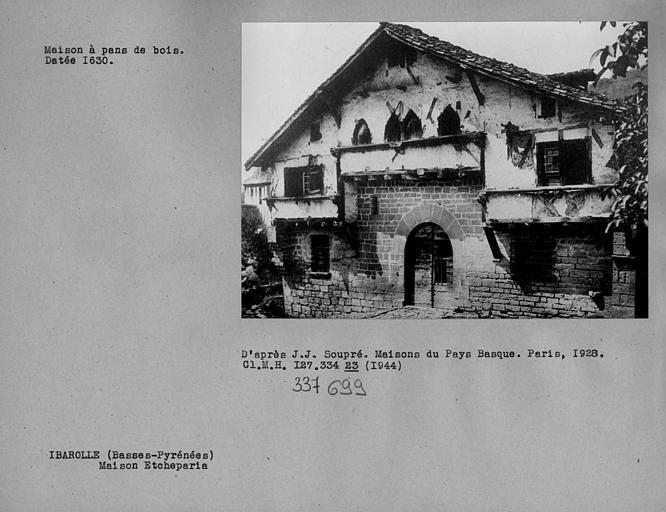 Maison Basque dite la salle d'Etchepare