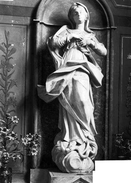 Statue : Vierge, marbre