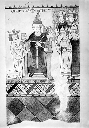 Relevé de peintures murales du deuxième registre