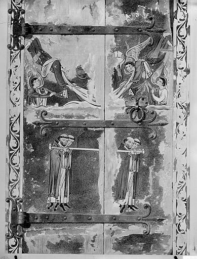 Relevé de peintures d'un meuble se trouvant dans la salle du Trésor