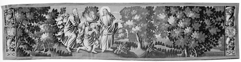 Scène de la vie du Christ, Jésus rendant la vue à un jeune aveugle, tapisserie d'Aubusson